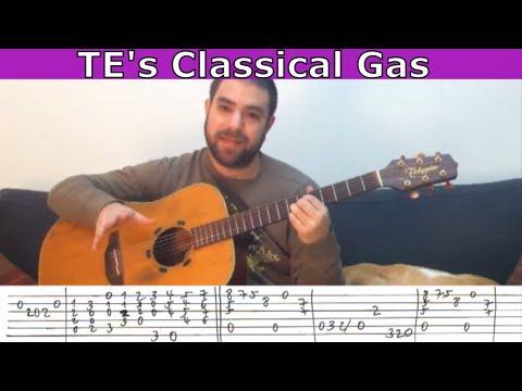 Tutorial: Classical Gas (Tommy Emmanuel) - Guitar Lesson w/ TAB