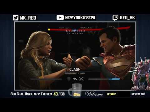 Injustice 2 Beta - REO (Black Canary) VS Slayer (Superman)
