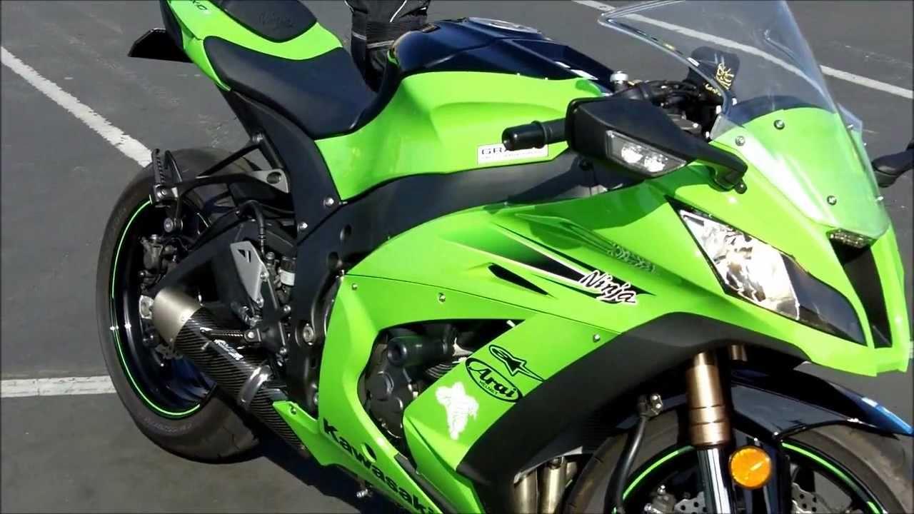 kawasaki ninja zx10r walk around engine exhaust sound revving