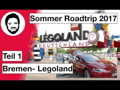 Tesla Sommer-Roadtrip 2017 - Teil 1 - Bremen-Legoland - 3.500 KM durch Europa