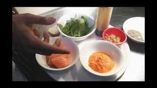 Loch Fyne Salmon With Fruit Salsa And Spiced Spinach Bhaji - Blue Arrow