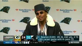 Canaanland Moors Cam Newton Brimless hat AGAIN Post Game NFL GameDay Prime