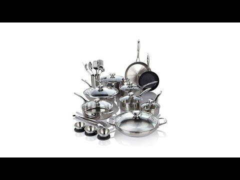 Wolfgang Puck Bistro Elite 27pc Stainless Cookware Set