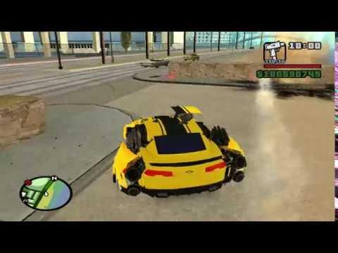 Transformers mod Bumblebee TF RODS for GTA SA
