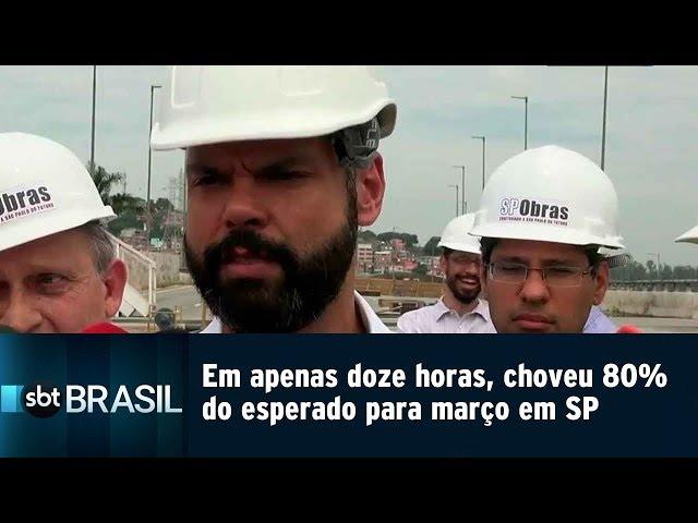Em apenas doze horas, choveu 80% do esperado para março em SP | SBT Brasil (11/03/19)