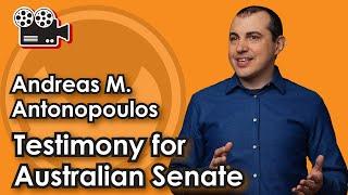 Andreas M. Antonopoulos testimony for Australian Senate