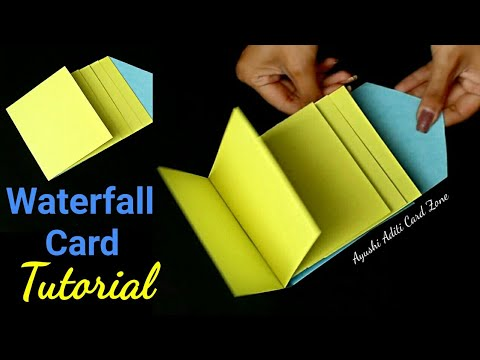 DIY Easy Tutorial for Waterfall Card | Cards for scrapbook |