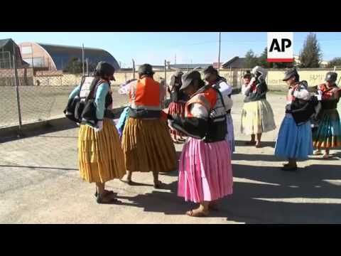 Specially trained indigenous women, known as cholitas, start patrolling the streets of El Alto