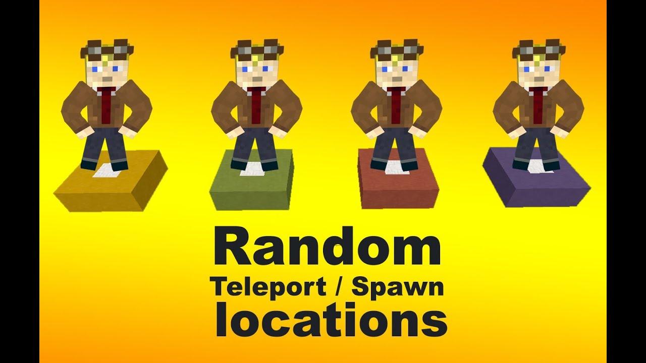 Random Teleport Spawn Locations With A Click Of A Button In - Minecraft spieler zum spawn teleportieren