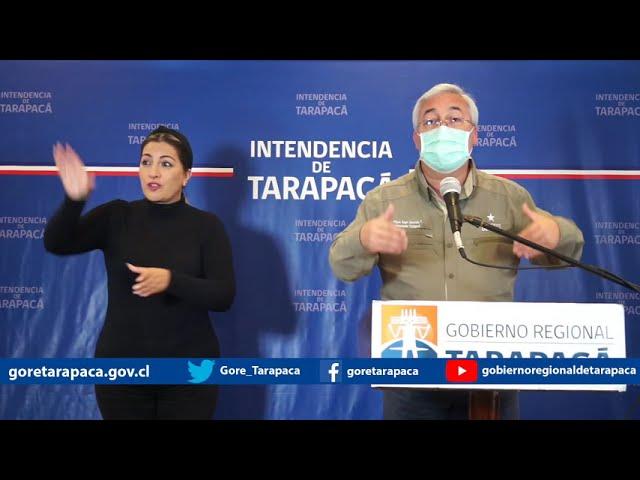 Punto de prensa 26 de septiembre de 2020 - Gobierno Regional de Tarapacá