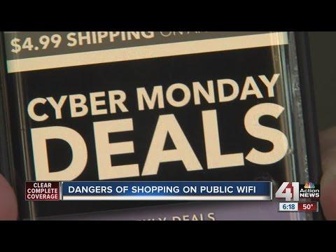 Dangers of shopping on public WiFi