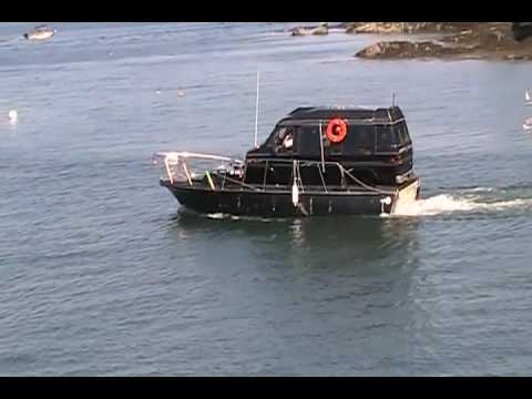 Chevy Astro Van >> Van Boat on Casco Bay - YouTube
