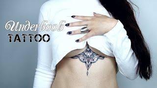 Minha primeira Tatuagem   Underboob Tattoo  Tatuagem entre os seios