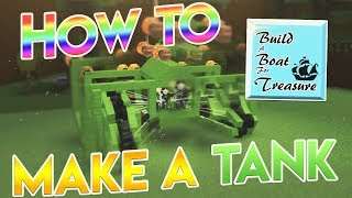 How to Make a TANK in Build a Boat! (Part 1) - ROBLOX