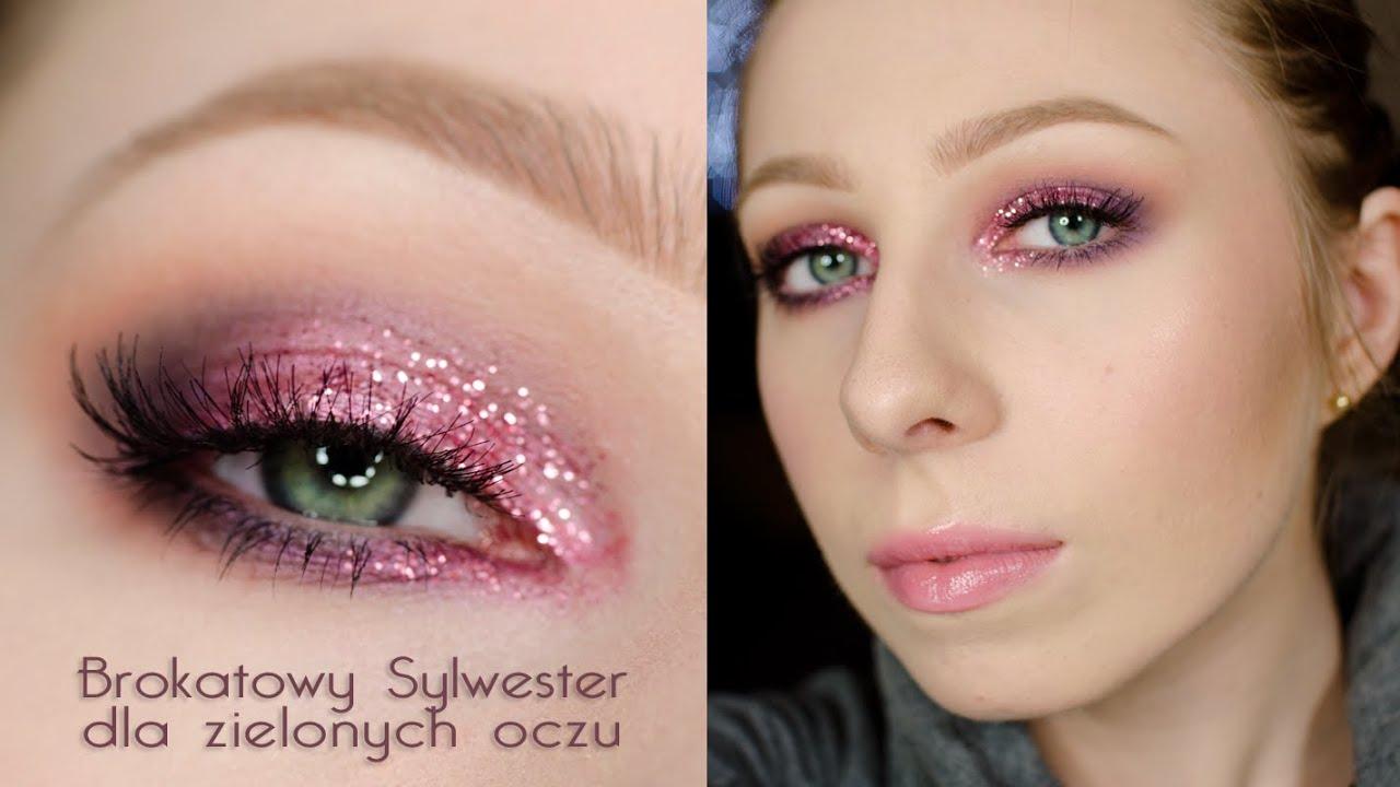 Brokatowy Sylwester Makijaż Dla Zielonych Oczu Tutorial Youtube