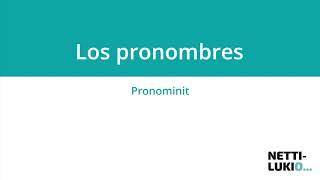 Espanja: Objektipronominit (lukio)
