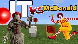 - IT vs Ronald McDonald Clown vs Clown Minecraft PE