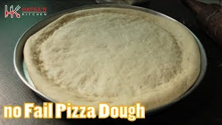 HOW TO MAKE PIZZA DOUGH AT HOME |PIZZA CRUST| -(EASY NO FAIL)PIZZA DOUGH BY HAFSA