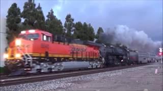 [HD] Trains in Sante Fe Springs, CA - FEATURING SANTA FE 3751!