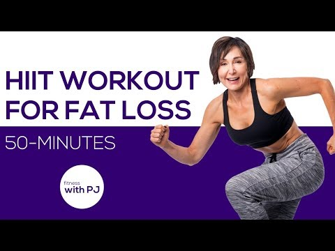 50-Min HIIT Workout for Fat Loss - Home HIIT Workout with Weights 💪