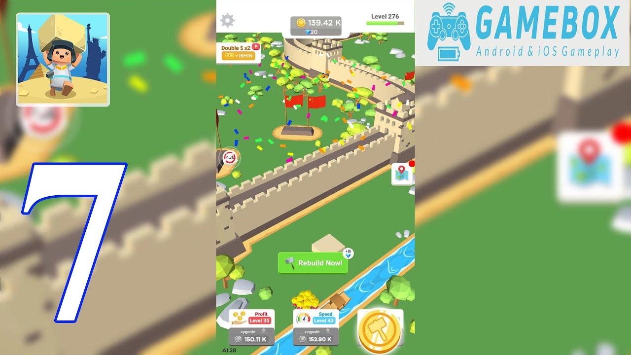 Idle Landmark Tycoon - Gameplay Walkthrough Map GREAT WALL ...