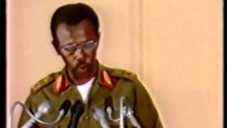 Ethiopia, Col. Mengistu on tv 1991