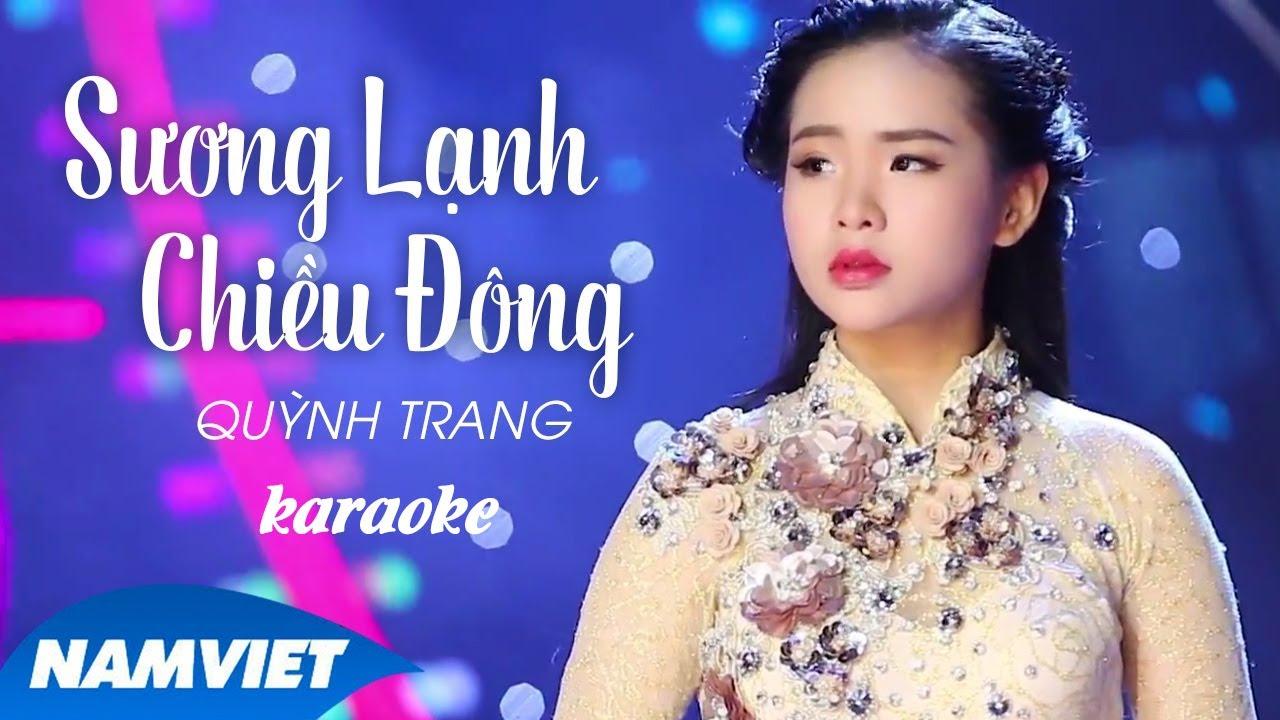 [KARAOKE] Sương Lạnh Chiều Đông - Quỳnh Trang | MV HD Official