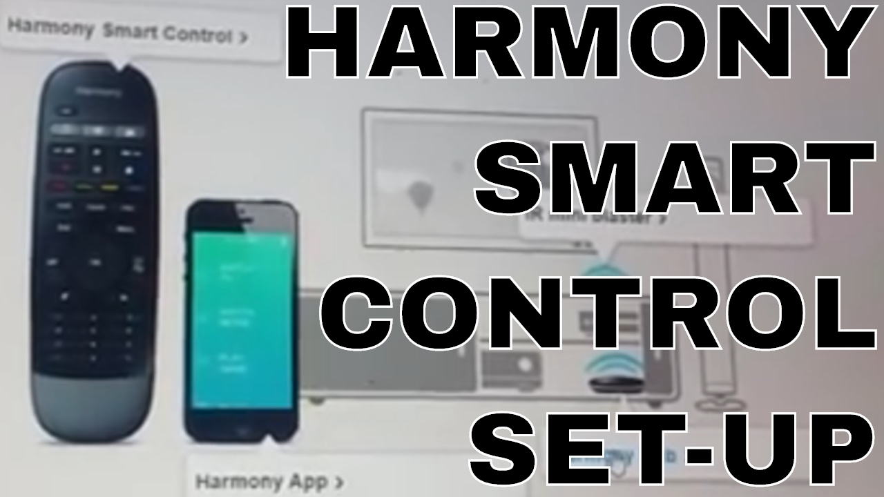 Logitech Harmony Smart Control - Set up & Friendly Names