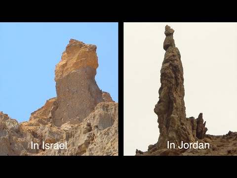 Lot's Wife Pillar, Mount Sodom, And Zohar Fortress