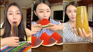 ASMR 젤리먹방 리얼사운드 ASMR Eating Jelly Fruit Satisfying   DELICIOUS COLORFUL JELLO EATINGSOUNDS #14