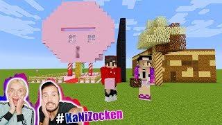 KAANS ZUCKERWATTE HAUS vs NINAS SCHOKO HAUS   Welches schmeckt besser? Minecraft Build Battle