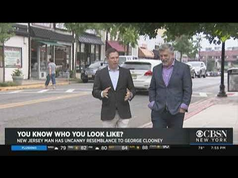 CBSN New York's Nick Caloway interviews George Clooney's New Jersey doppelganger.