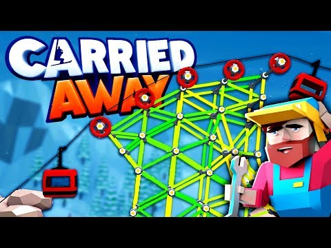 Building CRAZY Sky BRIDGES & Stunt Ski Jumps! (Carried Away Gameplay Part 1 - Next Poly Bridge?)