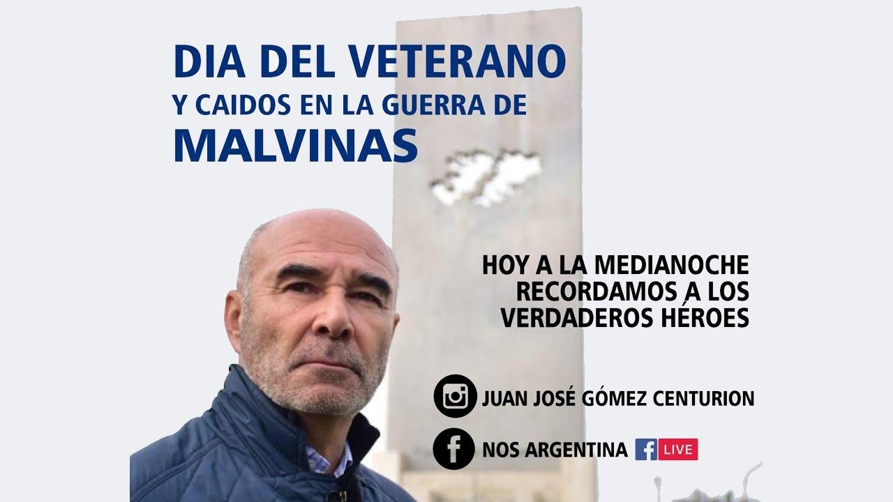 Juan José Gomez Centurión - Homenaje EN VIVO a nuestros HÉROES DE MALVINAS - 2 de Abril de 2020