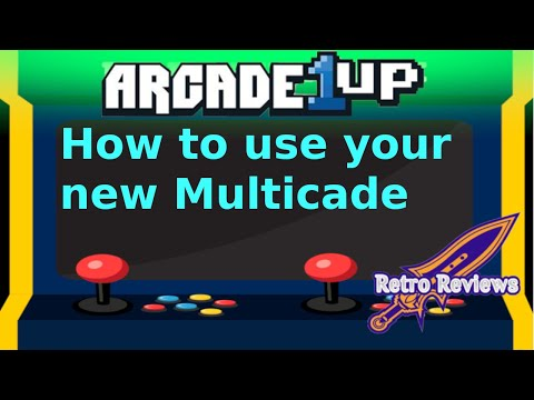How to use your new Multicade modded Arcade 1up from RetroReviews