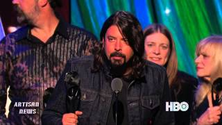 NIRVANA, KISS, GABRIEL ARE INDUCTED INTO ROCK AND ROLL HALL OF FAME, GET ALONG FINE