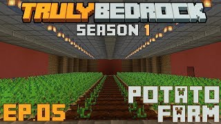 Truly Bedrock S1 E5 Potato farms do work, starting the main base