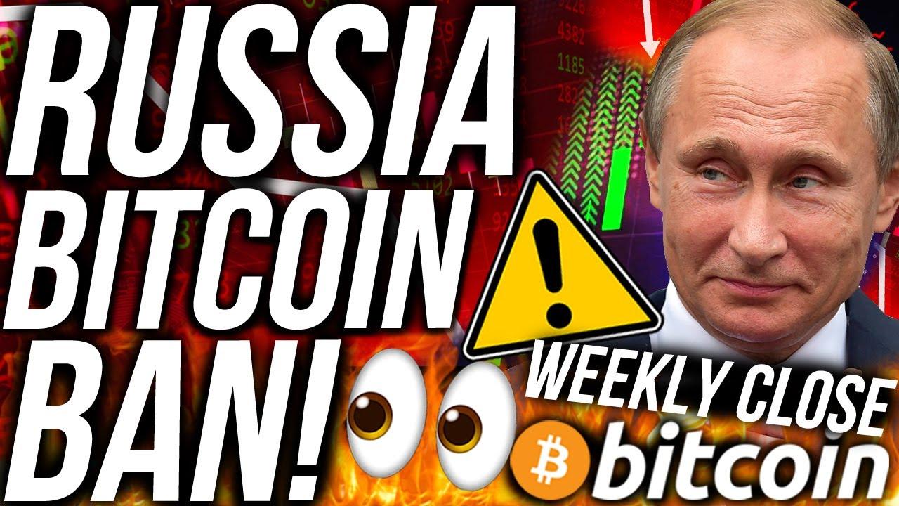 BITCOIN WEEKLY CLOSE PRICE CRASH?!? RUSSIA BITCOIN BAN!!! ETH & XRP BULLISH! CRYPTO NEWS 13