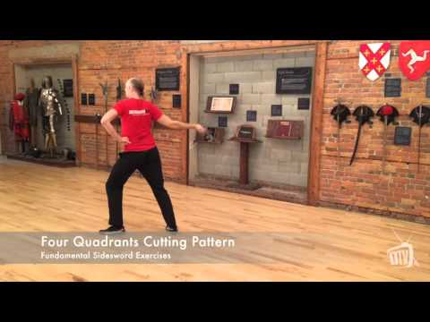 Four Quadrants Cutting Pattern - Sidesword Exercises