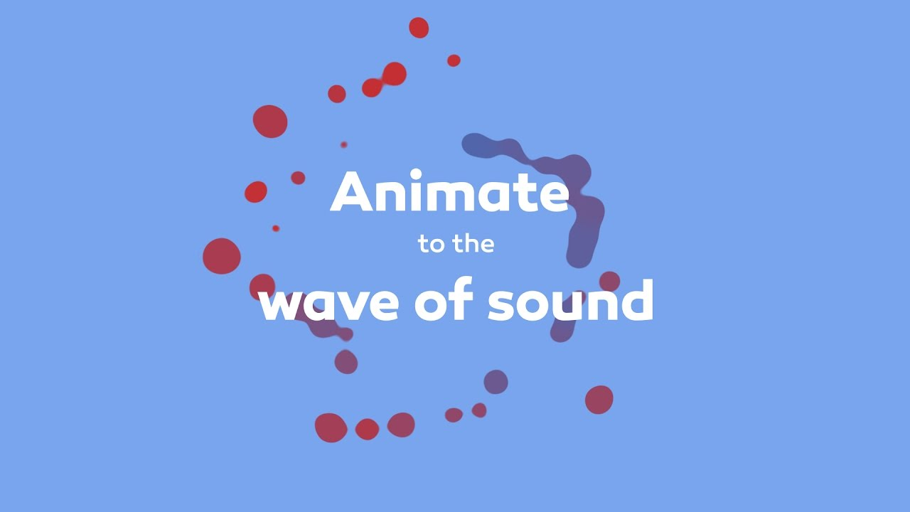 Animate to the wave of sound in After Effects tutorial