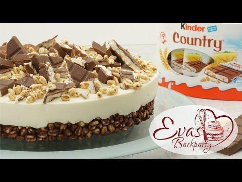 Kinder-Country-Torte /  no bake / Schokoladen-Knusper-Boden / Backen evasbackparty