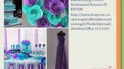teal and purple bridesmaid dresses