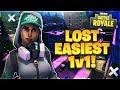 I LOST THE EASIEST 1v1 in Fortnite: Battle Royale!