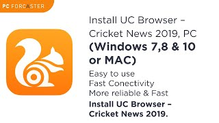 UC Browser: Install UC Browser – Cricket News, Video Downloader in PC (Windows 7,8/10 or MAC) screenshot 4