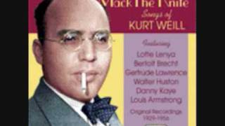 Kurt Weill and Bertolt Brecht - Die Moritat von Mackie Messer