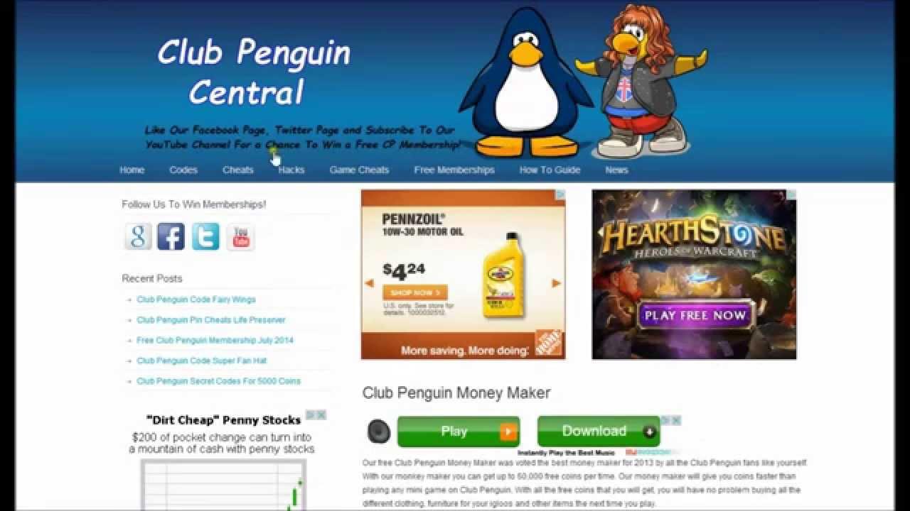 How do you download club penguin money maker?
