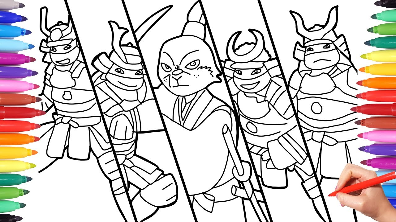 Ninja Turtles Samurai Coloring Pages for Kids, How to Draw ...