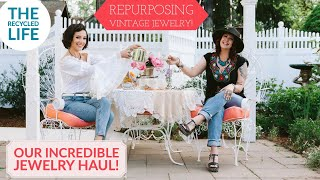 Repurposing Vintage Jewelry | Our HUGE Vintage Jewelry Haul | The Recycled Life