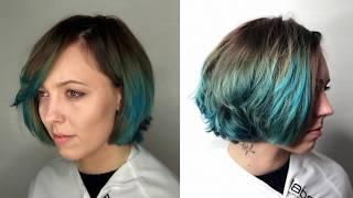Как сделать каре на густые вьющиеся волосы урок для парикмахера