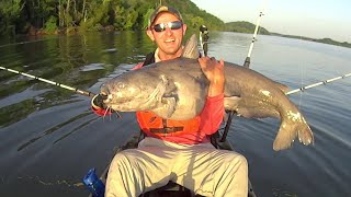 Catfishing Chaos! Trophy blue catfish, flathead catfish, striped bass, and more! Yak Tribe Day 4